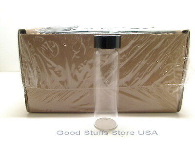 Lot Of 3x 40ml Clear Glass Bottle Vial Abs Cap Leak-free Tested