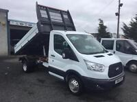 Ford Transit tipper 155 bhp 2.2 tdci 1 stop body 2015 15 Reg Only 27,000 miles