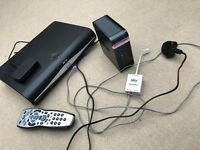 Sky+ hd box with router, leads and remote