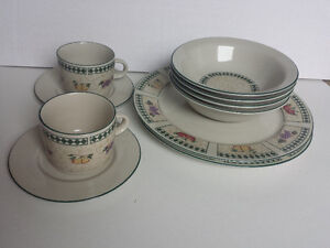Dishes, Bowls and Cups set for 2 people, Newcor Stoneware