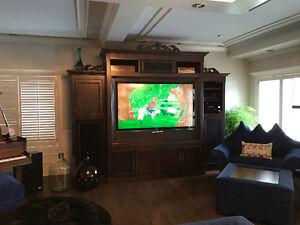 meuble en bois pour television pour salon fait a la main