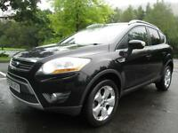 08/58 FORD KUGA 2.0 TDCI ZETEC 4X4 IN MET BLACK WITH SERVICE HISTORY
