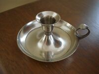 vintage bougeoir argent candle holder millard lister sales