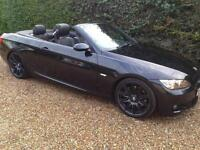 BMW 3 SERIES 335i M SPORT CABRIOLET 08 BLACK WITH BLACK LEATHER