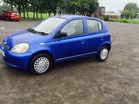 2001 Toyota Yaris Gls full years mot cheap for quick sale