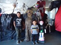 Chewy and  Chappie  Entertianment  Robot at Halloween  Alley