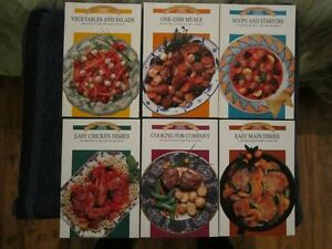 Set of 6 Canadian Living Cook Books 1991