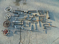 Large Quantity of Machinery Handles
