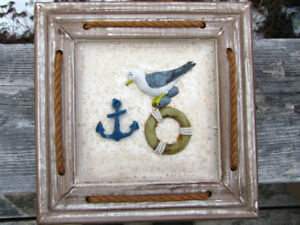 3 D picture with seagulls - nautical theme