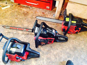 2 JONSERED 2040 TURBO'S & 1 TROY-BUILT CHAIN SAWS