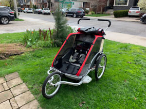 Chariot Double Jogging Stroller w/bike attachment
