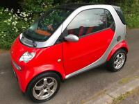 SMART CAR PASSION S TOUCH AUTO 66,000 GENUINE MILES IN RED/ORANGE/SILVER COLOUR