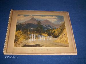 SEE YOUR WEST ART PRINTS-1946 STANDARD OIL PROMOTION-VINTAGE!