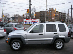 **2006 Jeep Liberty 4x4** Auto, Air Cond., Certified & E-tested