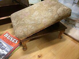 Vintage footstool fully adjustable