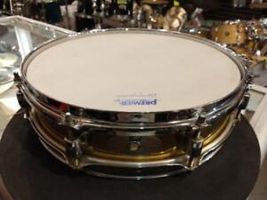 "Pearl Piccolo snare-caisse claire en Brass 13""x3"" - usagée-used"