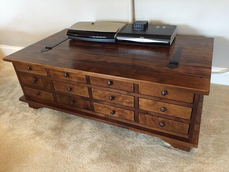 laura ashley garrat 12 drawer coffee table | in framlingham