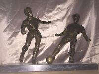 Bronze Footballers Statue circa early 1900,s