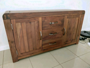 Solid timber lowboy cabinet for sale free delivery