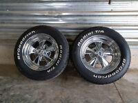 """14"""" Cragar Rims with P215/60 R14 tires - 7"""" wide"""