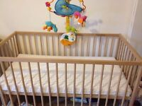 IKEA cot and TINYLOVE MOBIL