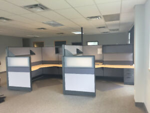 2 Office Cubicle with Desk