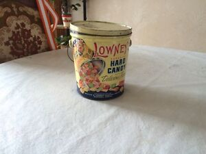 Vintage Lowney,s candy can