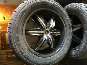Tires and rims for trucks