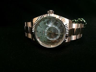 Rolex Sky Dweller 326935 18k Everose Gold Sundust Dial 42mm Watch