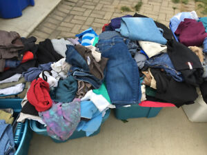 100+ brand name, very clean used clothing - women's & men's