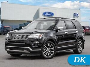 2019 Ford Explorer Platinum  w/Leather, Moonroof, Nav, and More!
