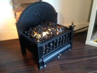 Burley manufactured Electric vintage looking fire basket insert, immaculate condition. CHEAP!!
