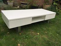 White gloss coffee table / Tv unit
