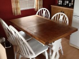 Antique table & 4chairs