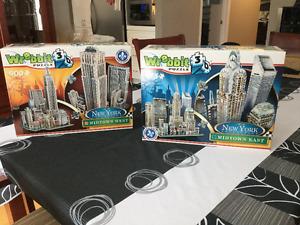 2 Casse-tête Wrebbit  3D puzzle New York