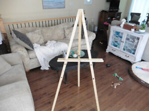 Easel - Tall - For Standing and Painting - Wood Construction