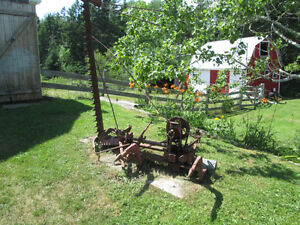 two point hitch sickle bar mower and two furrow plow