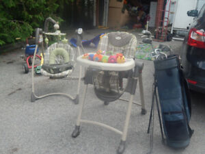Matching Stroller and Baby Swing