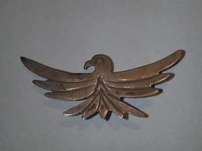 Vintage Southwestern Fred Harvey Sterling Thunderbird Pin Signed JB