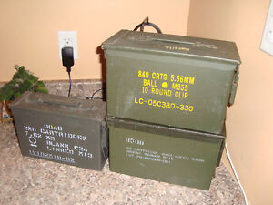 Cartridge/ ammunition/ ammo water proof steel box