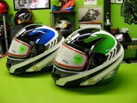 Green and Blue ZOX helmets - $70.00 at RE-GEAR Kingston Kingston Area Preview