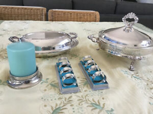 Elegant silver serving pieces