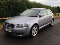 Audi A3 2005 model 2.0 fsi 3 door sport edition great extras don't miss out cheap runner volkswagen