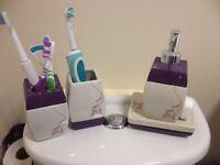 Purple bathroom items