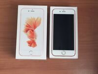 Unlocked Boxed Apple Iphone 6S with Apple Care+ Insurance Warranty in Rose Gold Open to any network