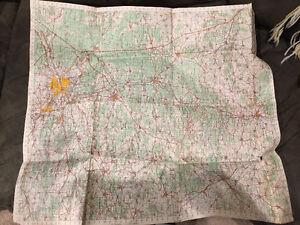 WW2 WWII German pilots map of Nuremberg