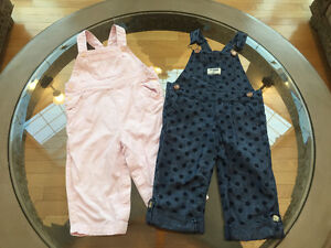 OshKosh Overall and Micromotion Baby Pink Overall 12-18 month