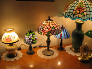 TIFFANY TABLE LAMPS, all handmade, one of a kind, 416-483-1730