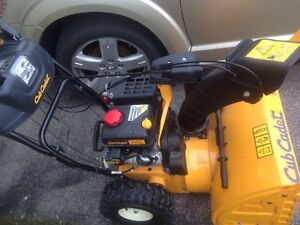 10 hp CUB CADET snowblower- 2 yrs old- electric start