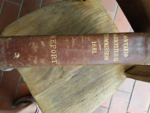 Hard cover.. Ontario agricultural commission report-1881-